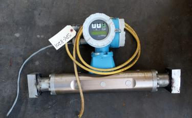 Valve 1.5 Endress-Hauser model 63M liquid flow meter, Stainless Steel