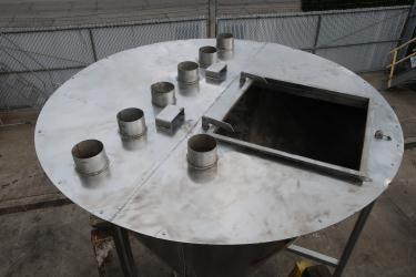 Bin 96 cu.ft., bulk storage bin, Stainless Steel