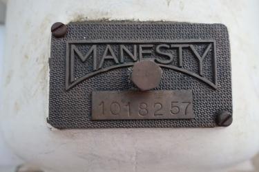 Enrober 32 diameter x 28 deep Manesty coating pan model CP2, Stainless Steel