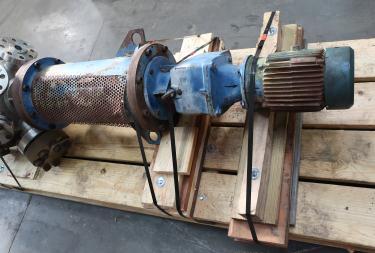 Reactor 70 gallon Hoppes Inc. chemical reactor, 1700 psi internal, FV-175 psi jacket, 5 hp top entering agitator