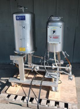 Filtration Equipment 2 sq. meter Spadoni Meccanica horizontal plate filter up to 2.2 gpm capacity, Stainless Steel