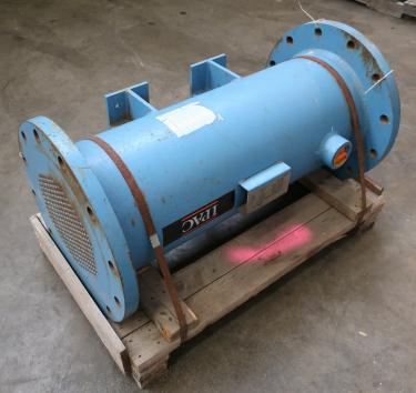 Heat Exchanger 93.2 sq.ft. Ipac 2000 Inc. shell and tube heat exchanger, 200 psi shell, 200 psi internal, 304 SS