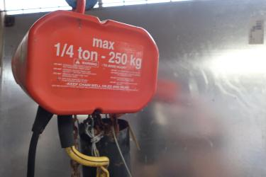 Material Handling Equipment chain hoist, 1/4 ton lbs. Columbus McKinnon model WB, 20 Ft