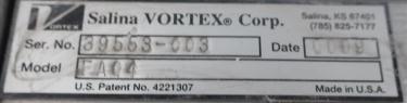 Valve 4 Salinia Vortex gate valve, pneumatic, Stainless Steel Contact Parts
