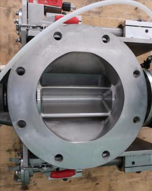 Valve 8 Stainless Steel Ancaster Conveying Systems rotary airlock feeder model MD 8 QC-R-SS, Sanitary quick clean