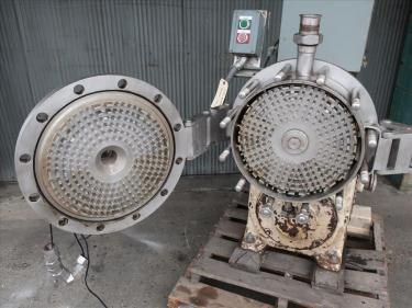 Mixer and Blender 30 hp Votator emulsifier mixer, model CR16, Stainless Steel Contact Parts