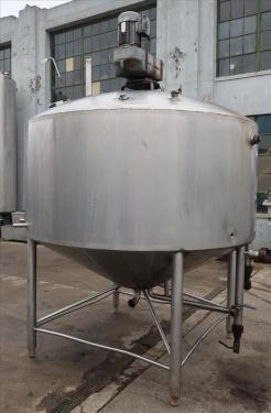 Kettle 1000 gallon Walker processor kettle, agitator top mount, 15 psi psi jacket rating, 304 SS