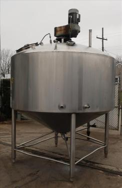 Kettle 1000 gallon Walker processor kettle, agitator top mount, 15 psi psi jacket rating, 304 SS