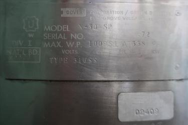 Kettle 30 gallon Groen hemispherical bottom kettle, 100 psi jacket rating, 316 SS