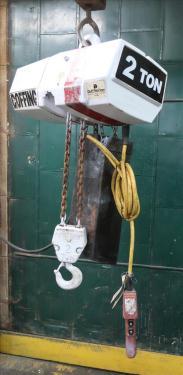 Material Handling Equipment chain hoist, 4000 lbs. Coffing Hoists model EC.4008.3