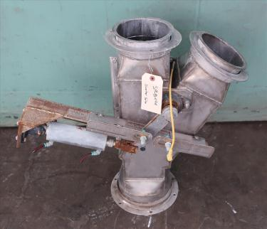 Valve pneumatic diverter valve, 8 Gravity, Stainless Steel