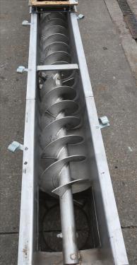 Conveyor Continental Conveyor screw conveyor model TD-123-0016D, Stainless Steel, 9dia. x 144long
