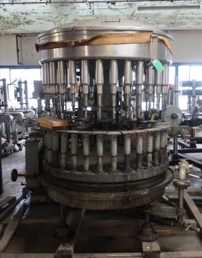 Filler 32 valve Horix liquid gravity filler model HAV-32-38, 4.75 centers, up to 320 cpm