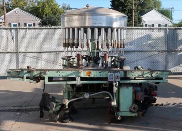 Filler 32 valve Horix liquid gravity filler 4.75 centers, up to 320 cpm