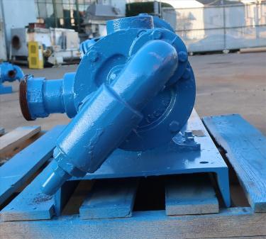 Pump 2 inlet Viking positive displacement pump model KK124, 3 hp, Cast Iron