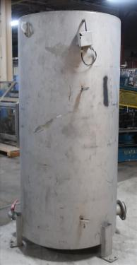 Tank 350 gallon vertical tank, Stainless Steel, flat