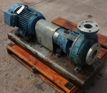 Pump 2K4X3M Durco centrifugal pump, 15 hp, Stainless Steel