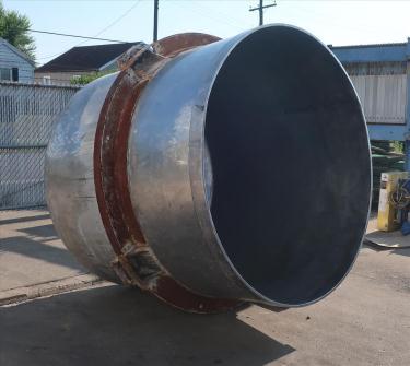 Tank 1350 gallon vertical tank, Stainless Steel, dish